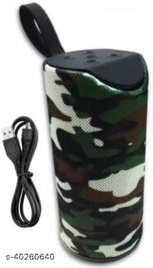Wireless Rechargeable 100% Brand New Top Selling Stereo DJ Multimedia Portable Speaker for Mobile/Tablet 10 W Bluetooth Speaker (ARMY PRINT)
