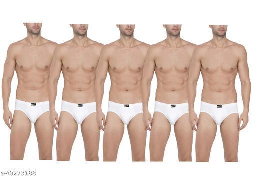 Men's White Briefs(pack of 5)