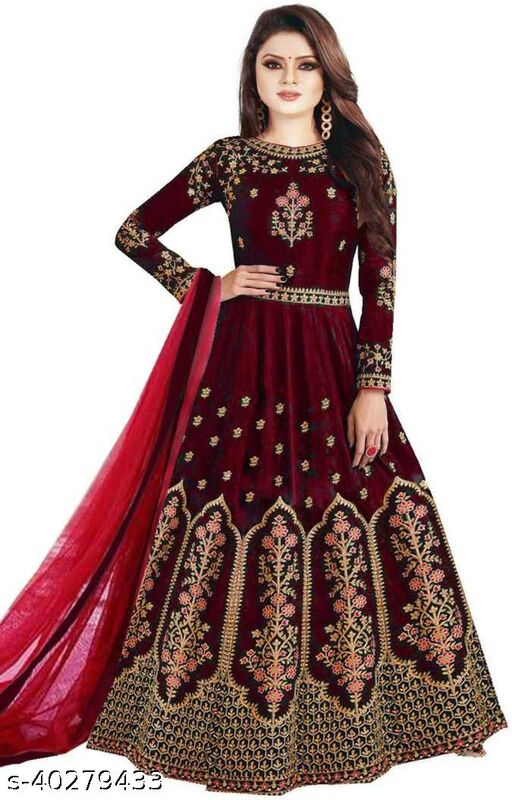 Anarkali Red Gown