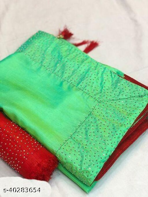 paper silk saree with havy daimond work with havy blouse piace