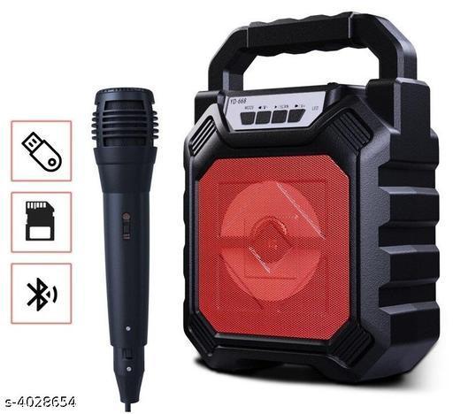 BTK Trade YD-668 Bluetooth Speaker with Karaoke Mic (Black)