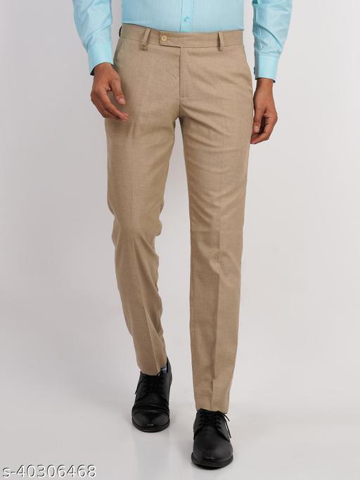 Crosscode - Men's Premium Formal Trousers(CCPTRF010_KAKHI)