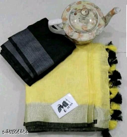 Trendy Fashionable Cotton Slub Sarees