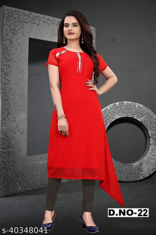 Stylist woman Geogette kurti