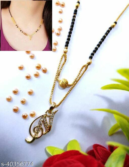 Popular  (N)Alphabet Mangalsutra with   Free  Gift