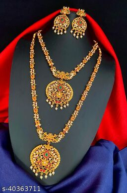 Shimmering Charming Women Necklaces & Chains With Earrings