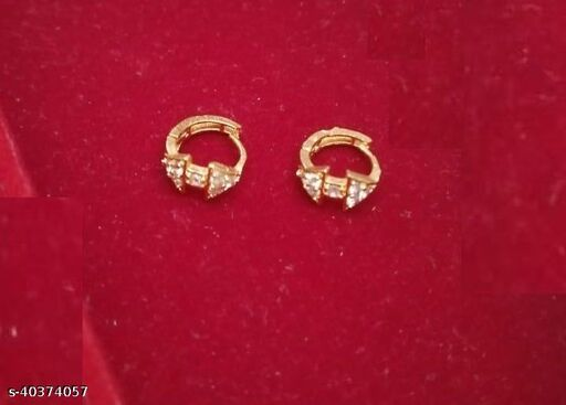 Beautiful gold plated piercing bali round nosepin combo for woman and girls pack of 2
