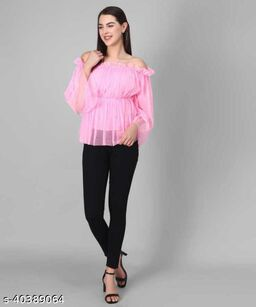 Women Latest Pink Solid Top
