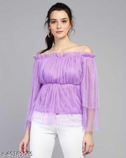 Women Latest Purple Solid Top