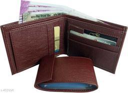 Trendy Men's Maroon Faux Leather/Leatherette Wallet
