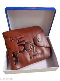Stylish Men's Brown Faux Leather/Leatherette Wallet