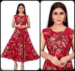Women Maroon Floral Print Maxi Dress
