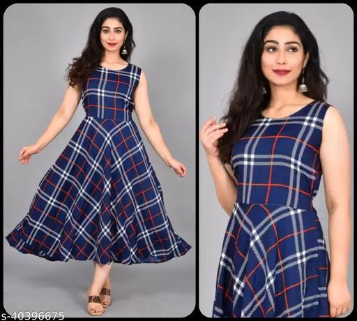 Women Navy Blue & Red Striped Maxi Dress