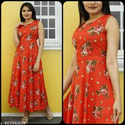 Women Red & Green Floral Print Dress