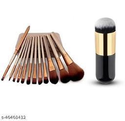 Makeup Brush Set Of 12 + 1 pcs foundation brush