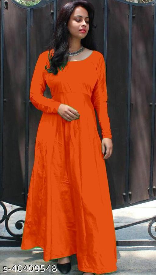 Women's Trendy Flared Designer Gown
