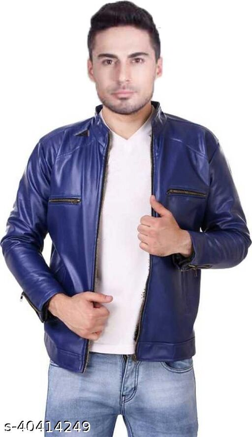 AT COLLECTION Full Sleeve Solid Men Jacket