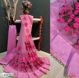 new catlog net saree pink