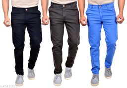 MOUDLIN Slimfit Strechable Multicolor Trendy jeans pack of 3 for men