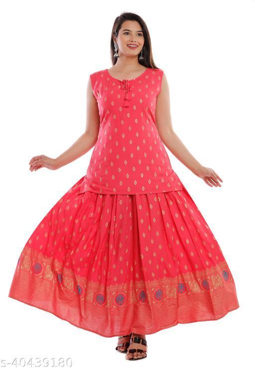 jivika_trending_top_skirt_set_pink