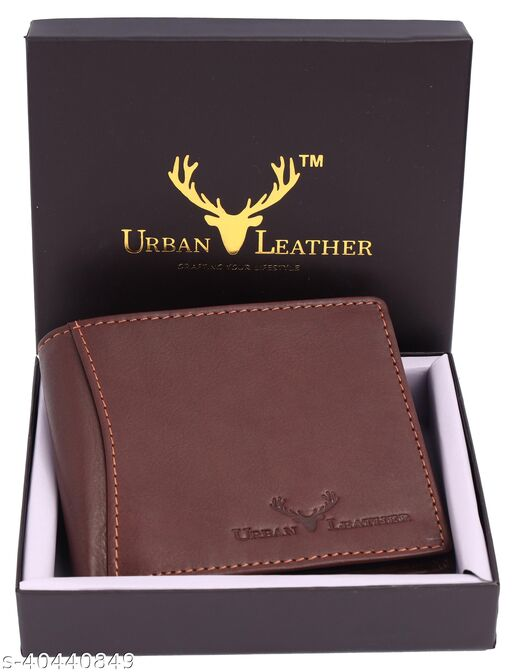 Urban Leather Carter Brown Mens Leather Wallet Leather Wallet for Mens with RFID Blocking Mens Wallet