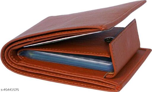 Trendy Men's Boys Faux Leather / Leatherette / Manmade Leather Wallet