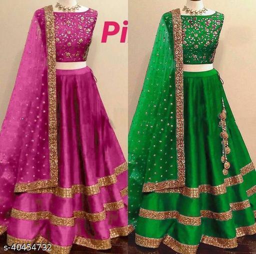 embrodery design taffeta silk Wedding lehenga choli ( combo)