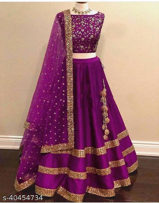 Embbroidery design Taffeta silk Wedding lehengha choli