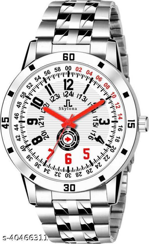 110 Silver Analoag Watche For Men