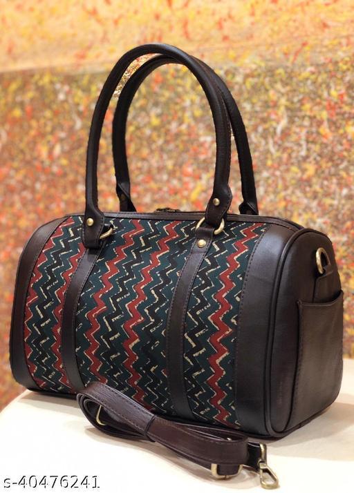 Coffee brown multicolor duffel bag