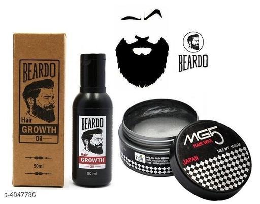 Beard Oil & Hair Wax For Hair Styling