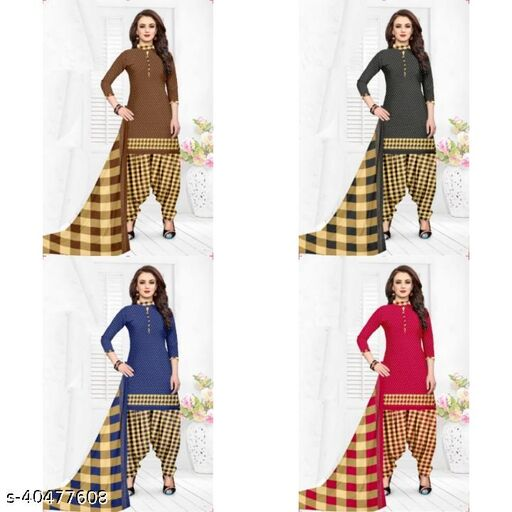 FANCY WOMEN UNSTICHED DRESS MATERIAL COMBO OF 4