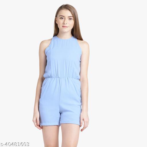 Solid Light Blue Jumpsuit