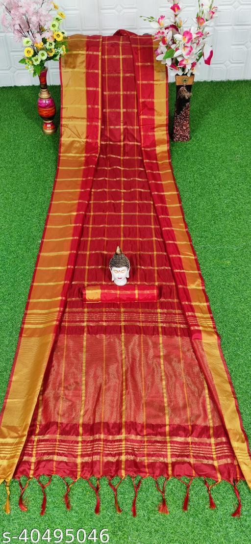 Fancy Desinger Cotton Silk Saree