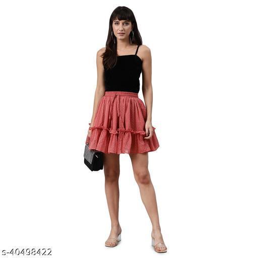 Pink Dobby Skirt
