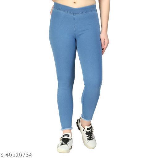 ZXN Clothing LIGHT BLUE   Women's & Girls' Regular Fit JEGGING