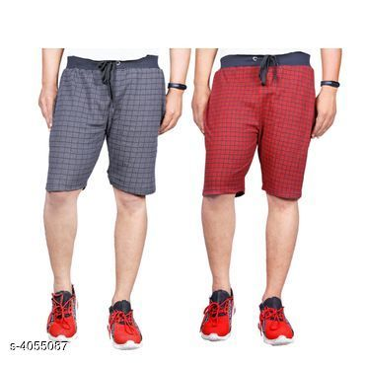 Fancy Cotton Men's Shorts ( Pack Of 2 )