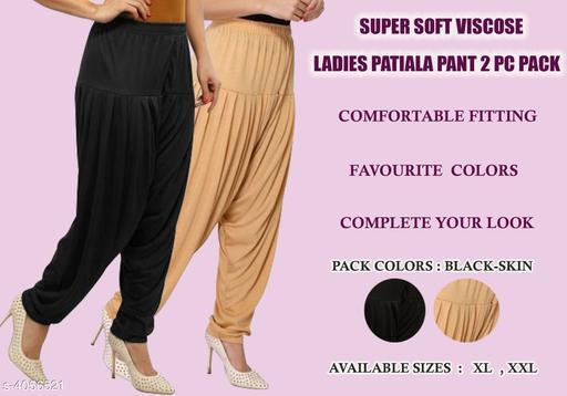 Solid Viscose Women's Patiala Pants Combo