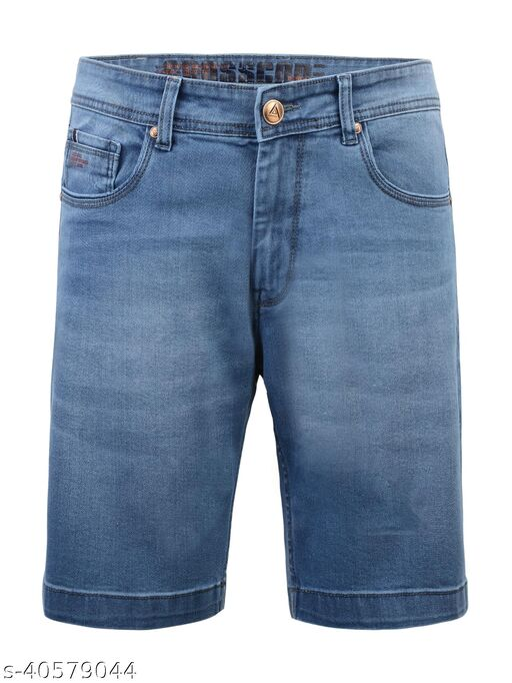Crosscode - Men's Denim Fashion Shorts(CCDFSHT014_M STONE 1)