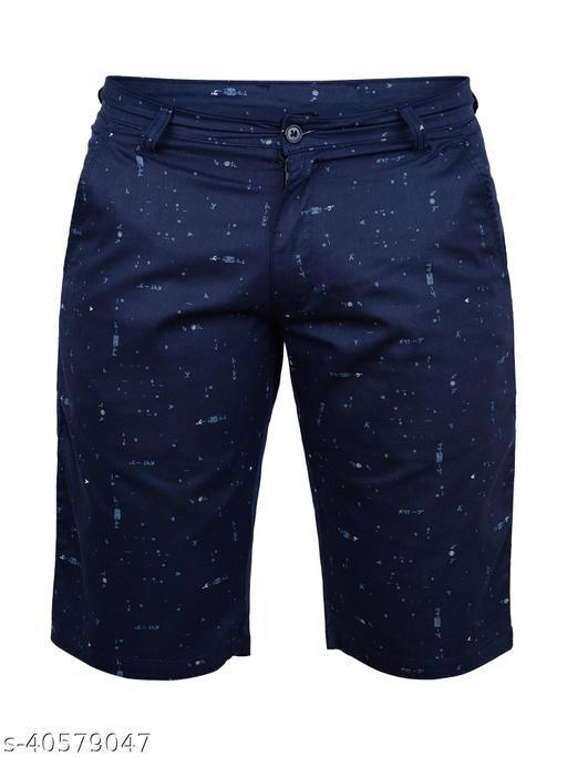 Crosscode - Men's Printed Casual Shorts(CCSHORTSPRT005_NAVY)