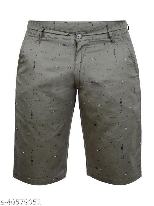Crosscode - Men's Printed Casual Shorts(CCSHORTSPRT005_GREEN)