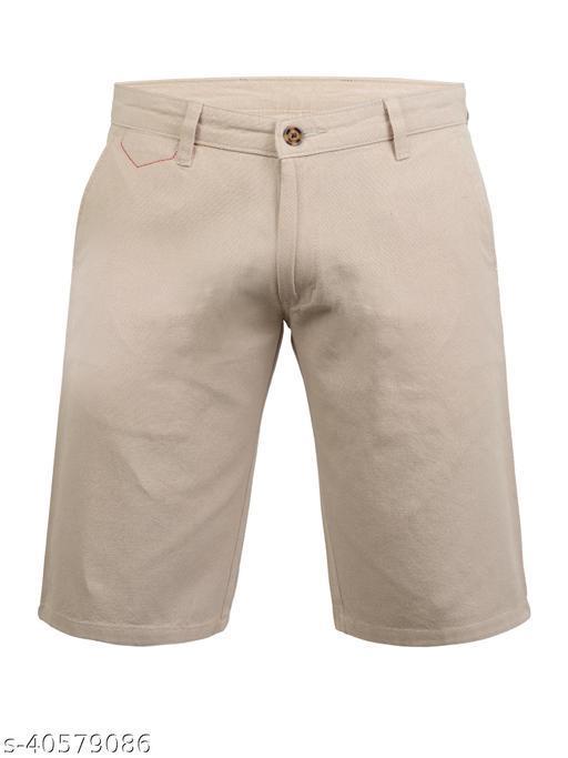 Crosscode - Men's Linen Look Casual Shorts(CCSHTS015_FONE)