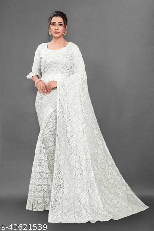 Ami White Rasal Saree 02
