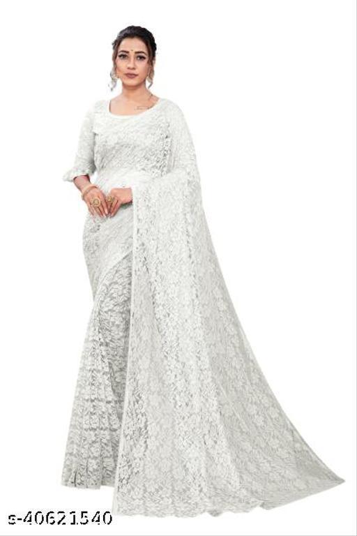 Ami White Rasal Saree 03