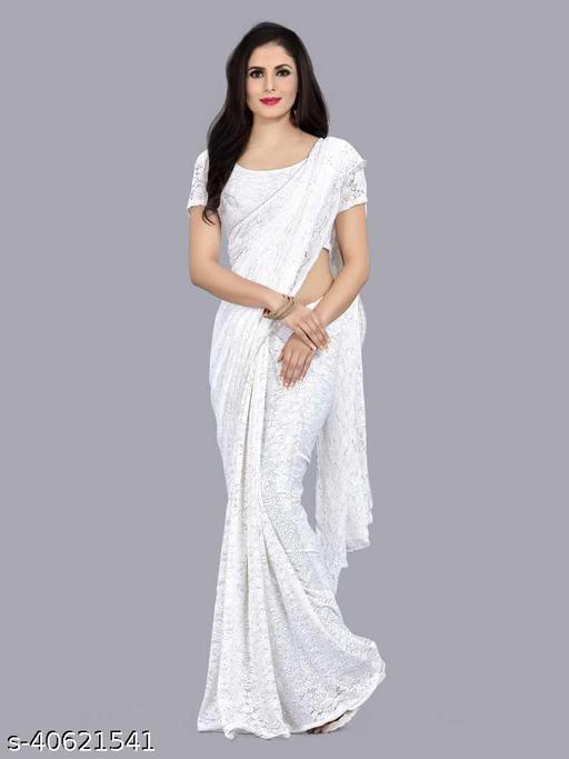 Ami White Rasal Saree 05