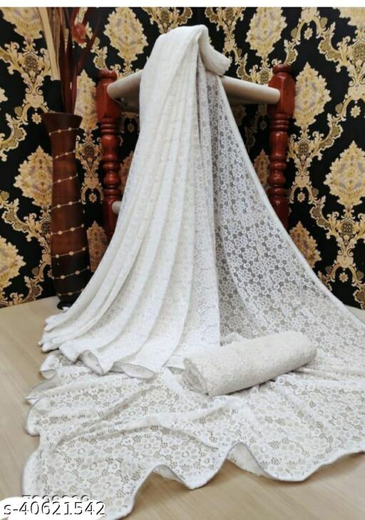 Ami White Rasal Saree 04