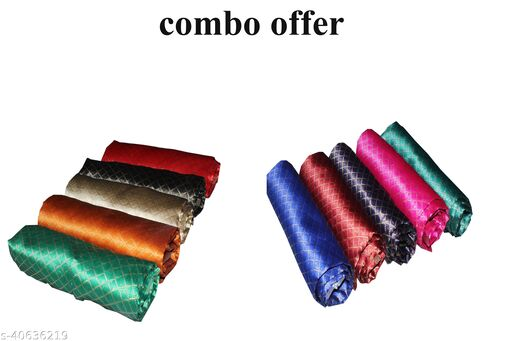 Combo Offer Blouse pieces ( in one Pack 10 Pieces and pieces length is 80cm and 92cm width)