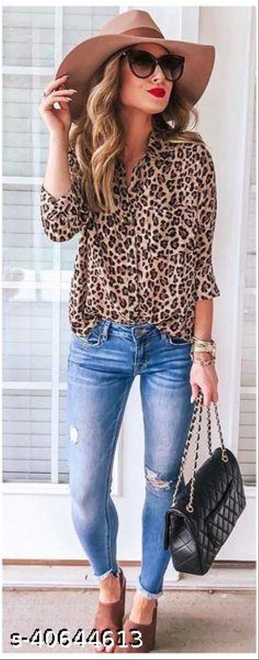 cheetah print full sleeve shirt