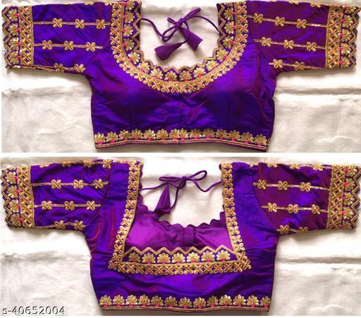 Cikka Hariyali Silk Blouse