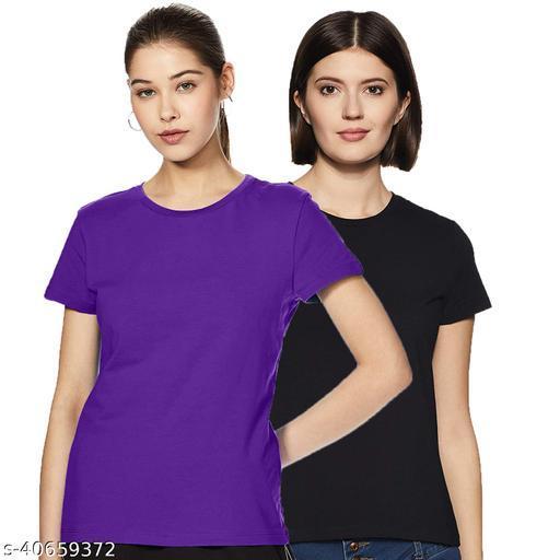 Premium Women`s Cotton T-Shirt Pack of 2